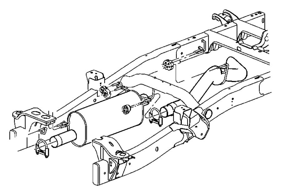 2007 Dodge Ram 2500 Muffler. Exhaust. Engine, system, hemi