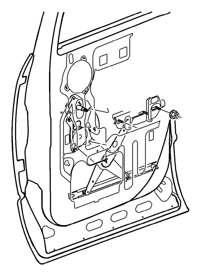 2008 Dodge Ram 5500 Regulator. Rear door window. Left