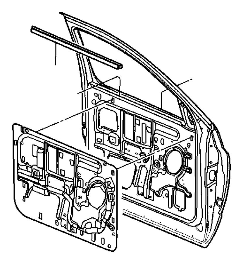 Dodge Ram 1500 Seal. Body side. Left. Door, weatherstrips