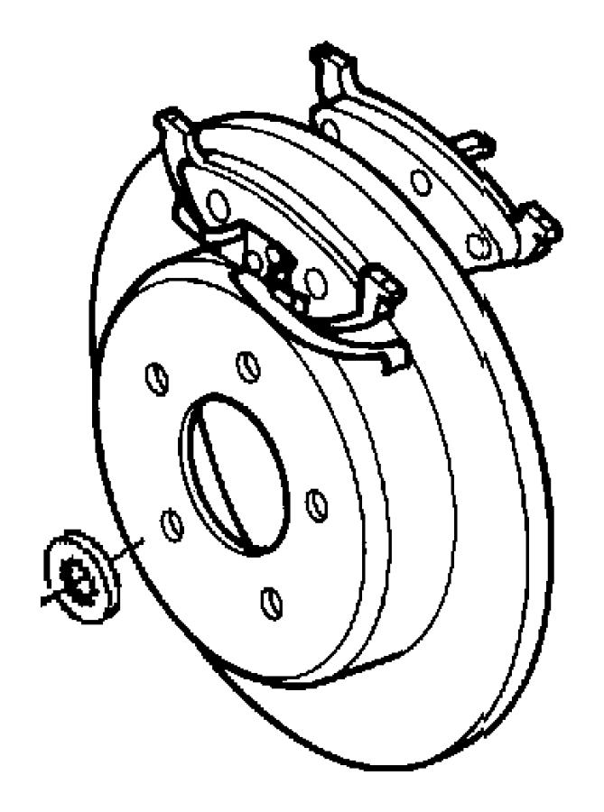 2003 Chrysler Town & Country Pad kit. Rear disc brake. [4