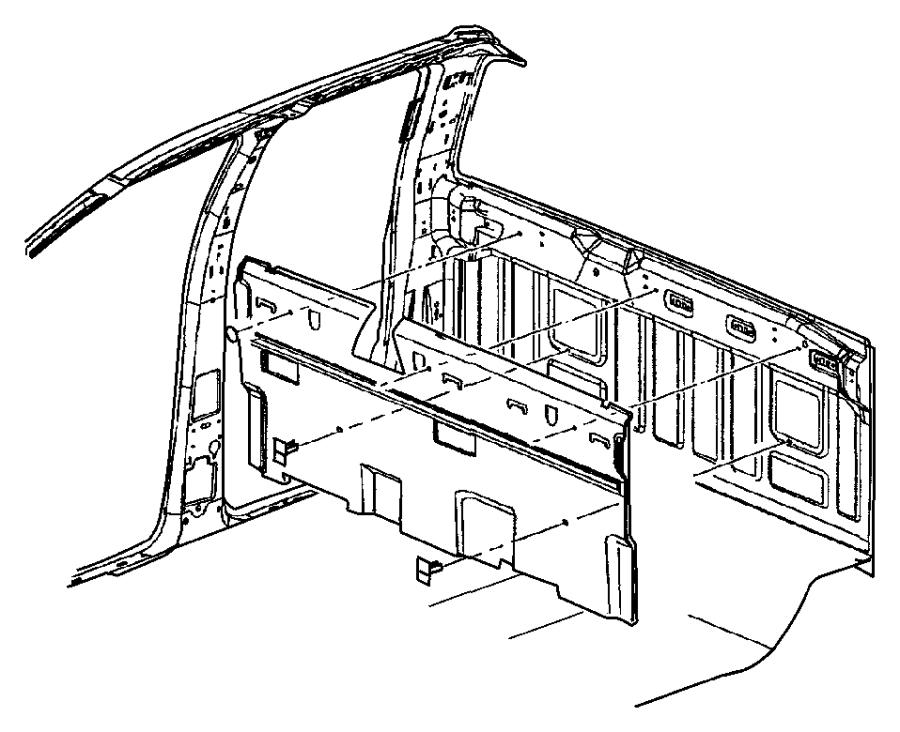 2004 Dodge Ram 2500 Silencer. Panel inner. Cab, service