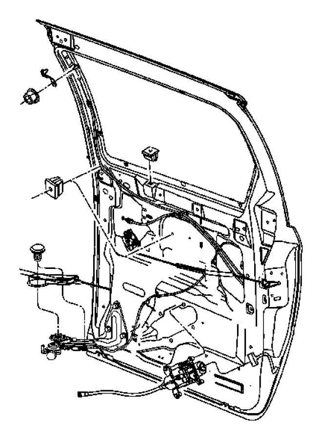 2007 Dodge Grand Caravan Motor. Sliding door. [right power