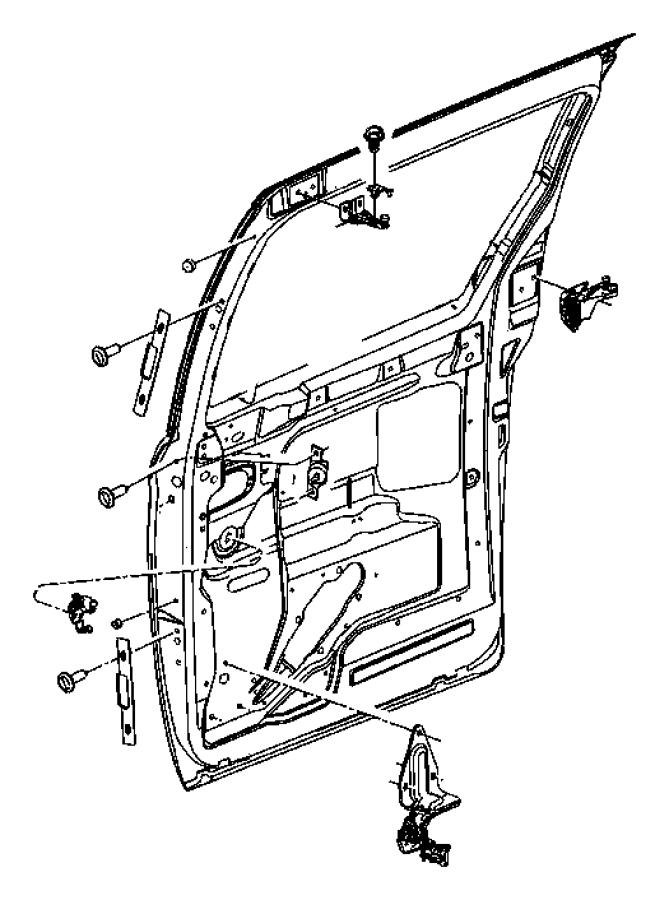 Dodge Grand Caravan Hinge. Sliding door body side. Right