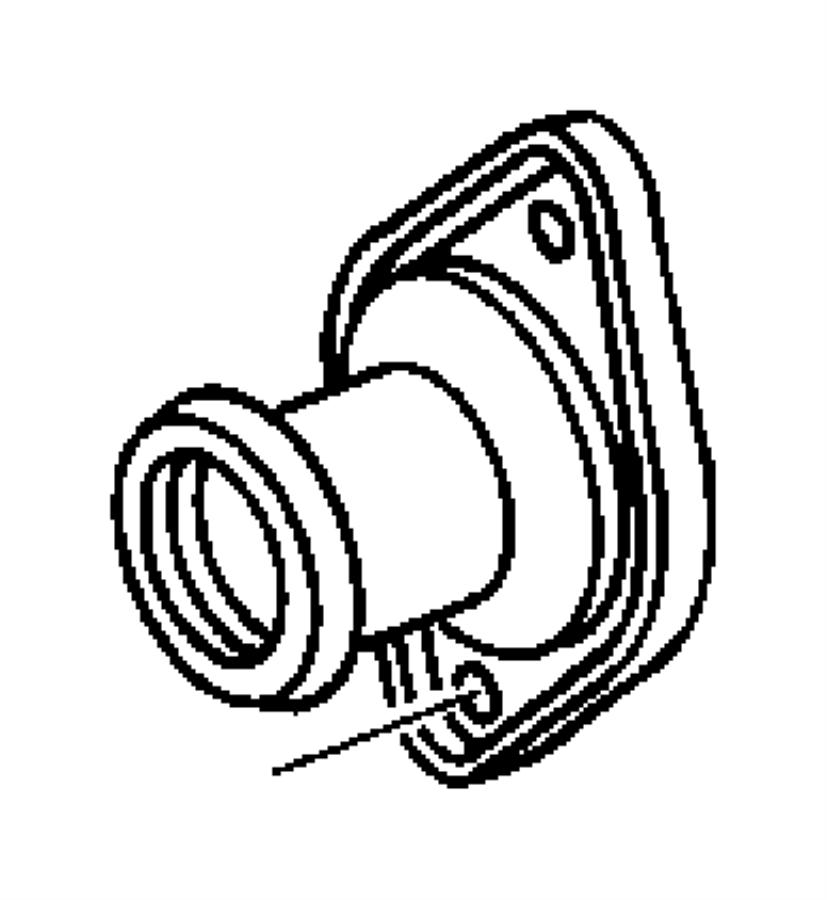 2002 Dodge Caravan Connector. Water outlet. Rear, radiator