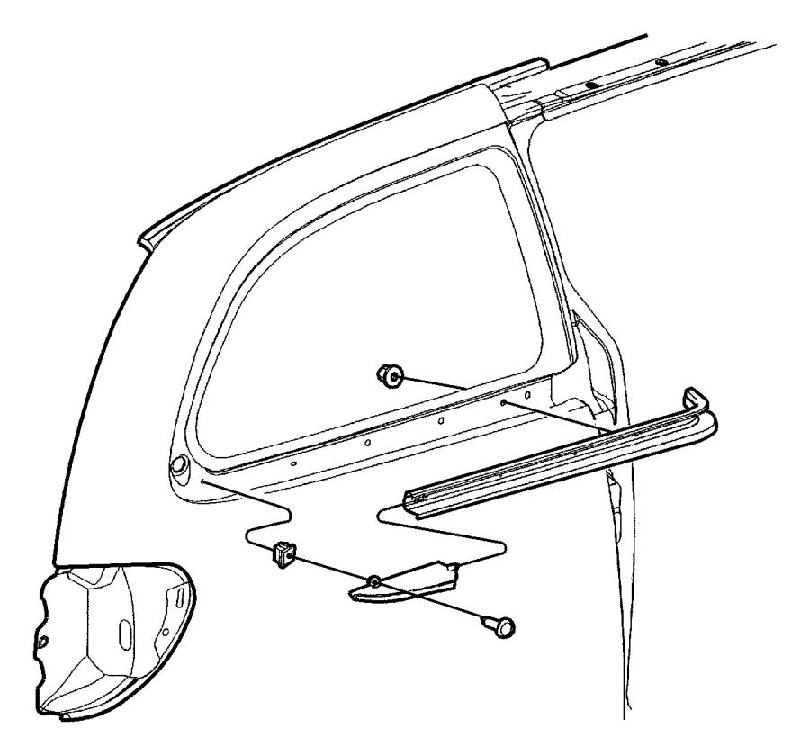 Dodge Grand Caravan Seal. Catch. Apertaure, slinding