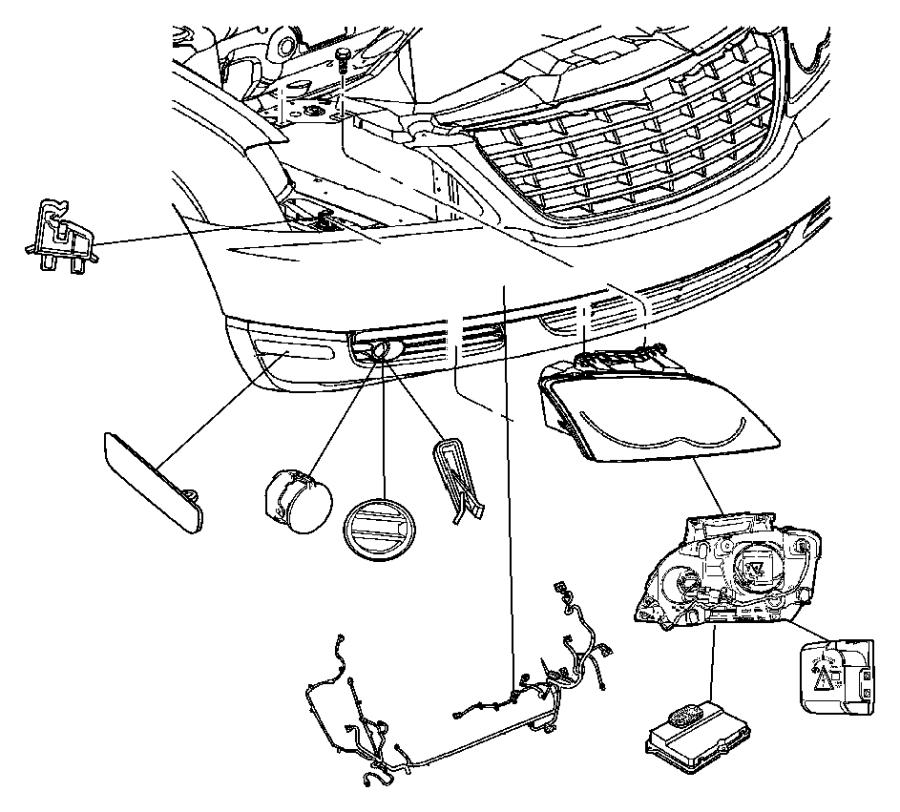 Chrysler Pacifica Module. Hid ballast. [high intensity