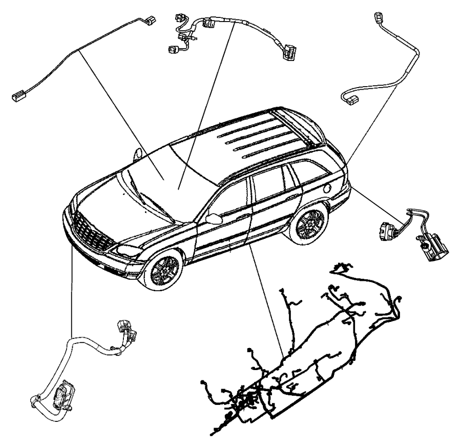 2004 Chrysler Pacifica Wiring. Fuel module. Gallon, body