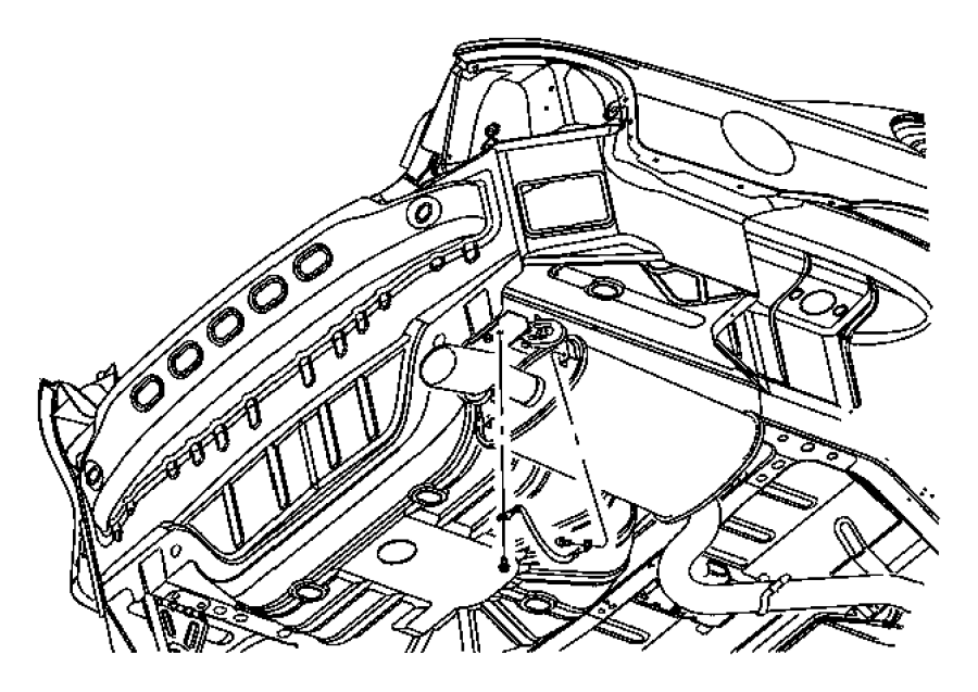 1997 Dodge Stratus Strap. Ground. Exhaust. Muffler