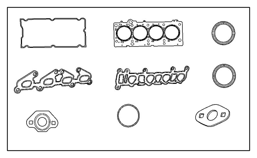 Chrysler Voyager Gasket package. Engine upper. Smpi, dohc