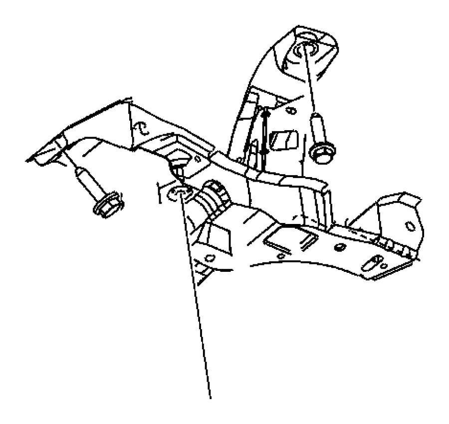 2011 Dodge Grand Caravan Crossmember. Front suspension