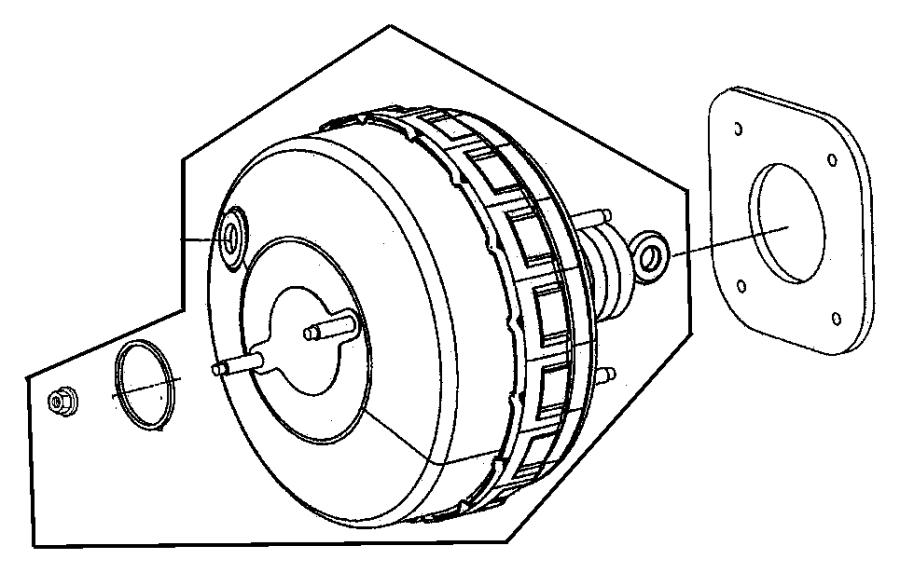 Chrysler PT Cruiser Check valve, valve. Brake booster