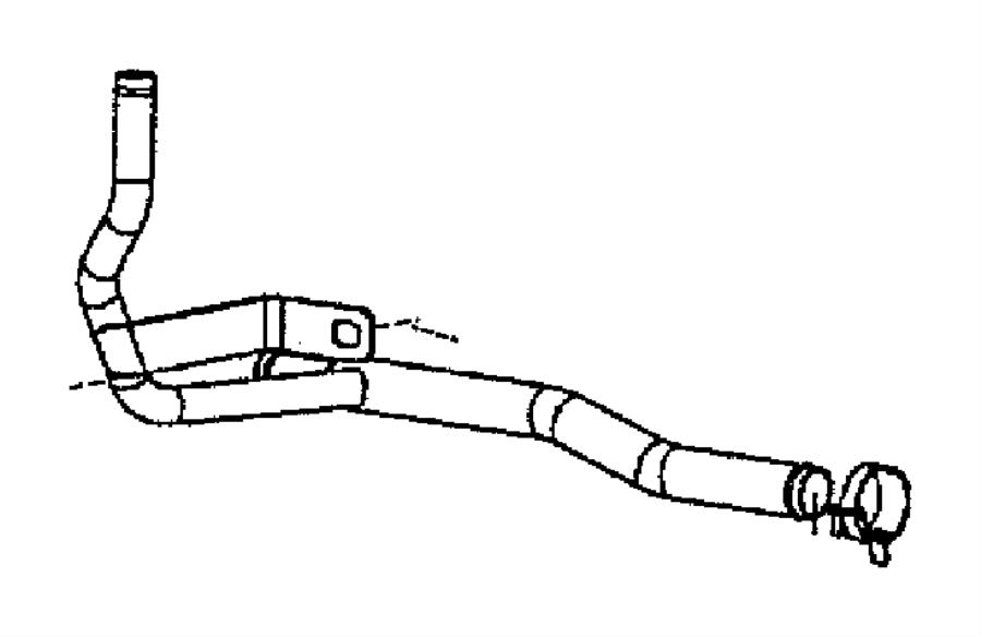 Dodge Ram 3500 Tube. Heater core. Emissions, federal