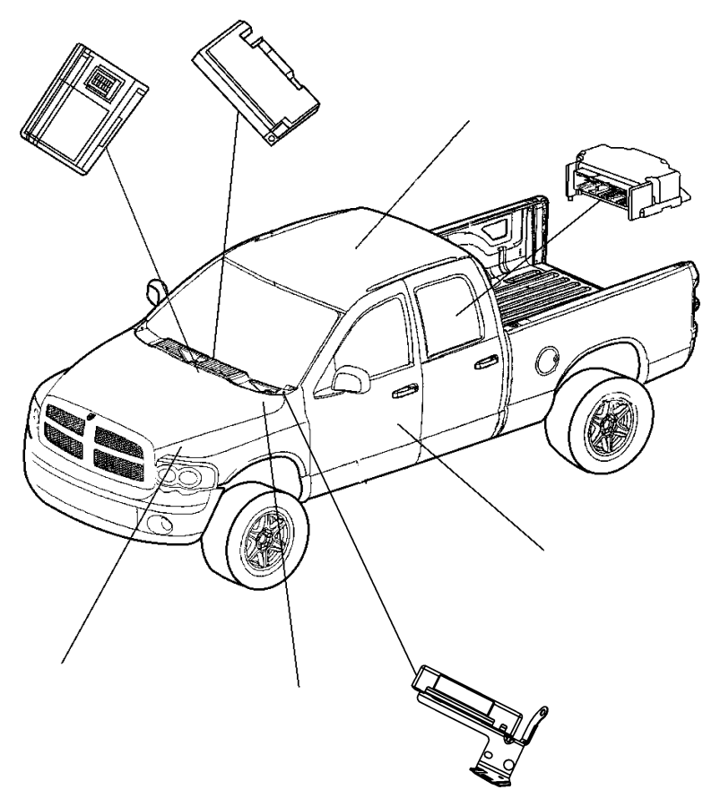2007 Dodge Ram 2500 Module. Control module. Remote, system