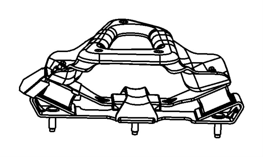 2010 Dodge Ram 2500 Isolator. Transmission mount. [3.73