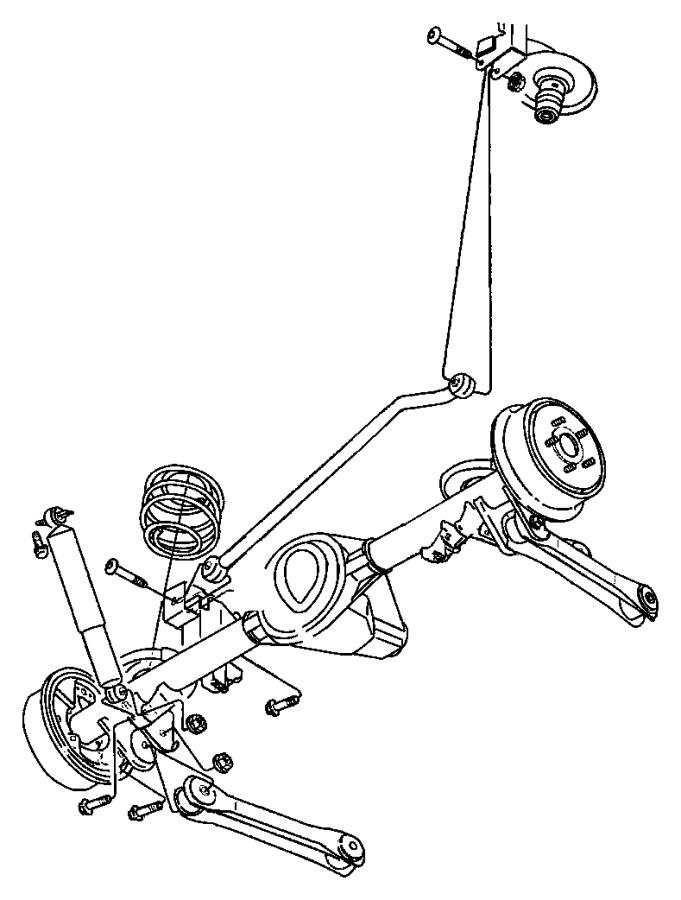 2010 Jeep Wrangler Shock absorber kit. Suspension. Rear