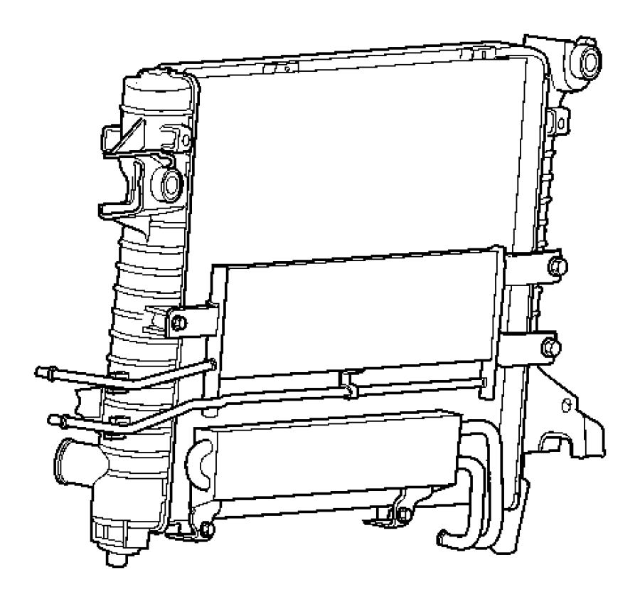 2005 Dodge Ram 1500 Cooler. Transmission oil. Engine