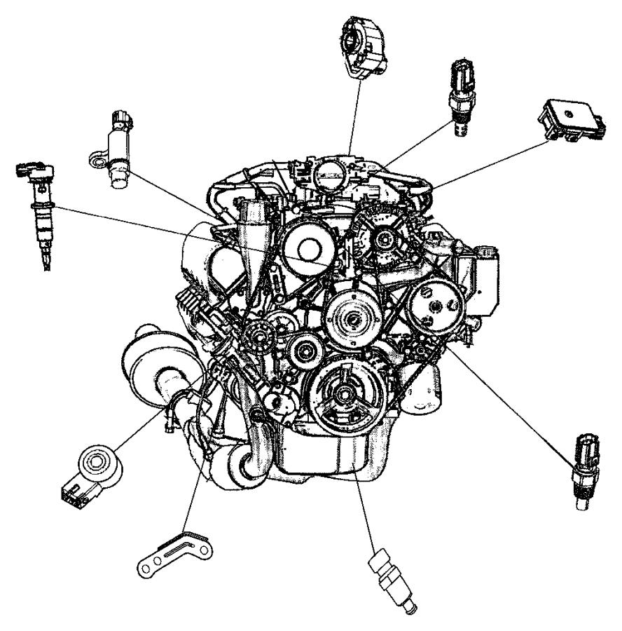 2006 Dodge Magnum Sensor. Oil temperature, temperature