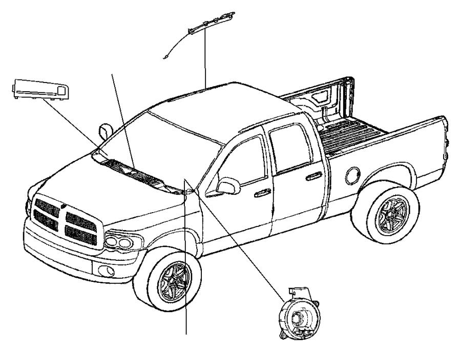2006 Dodge Ram 1500 Airbag. Passenger. Trim: (*o0.)color