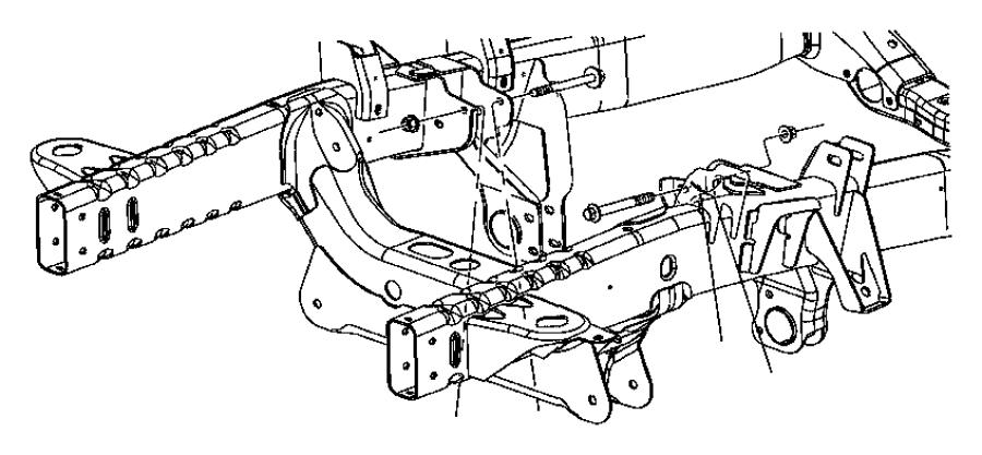 2006 Dodge Ram 1500 Insulator. Engine mount. Front right