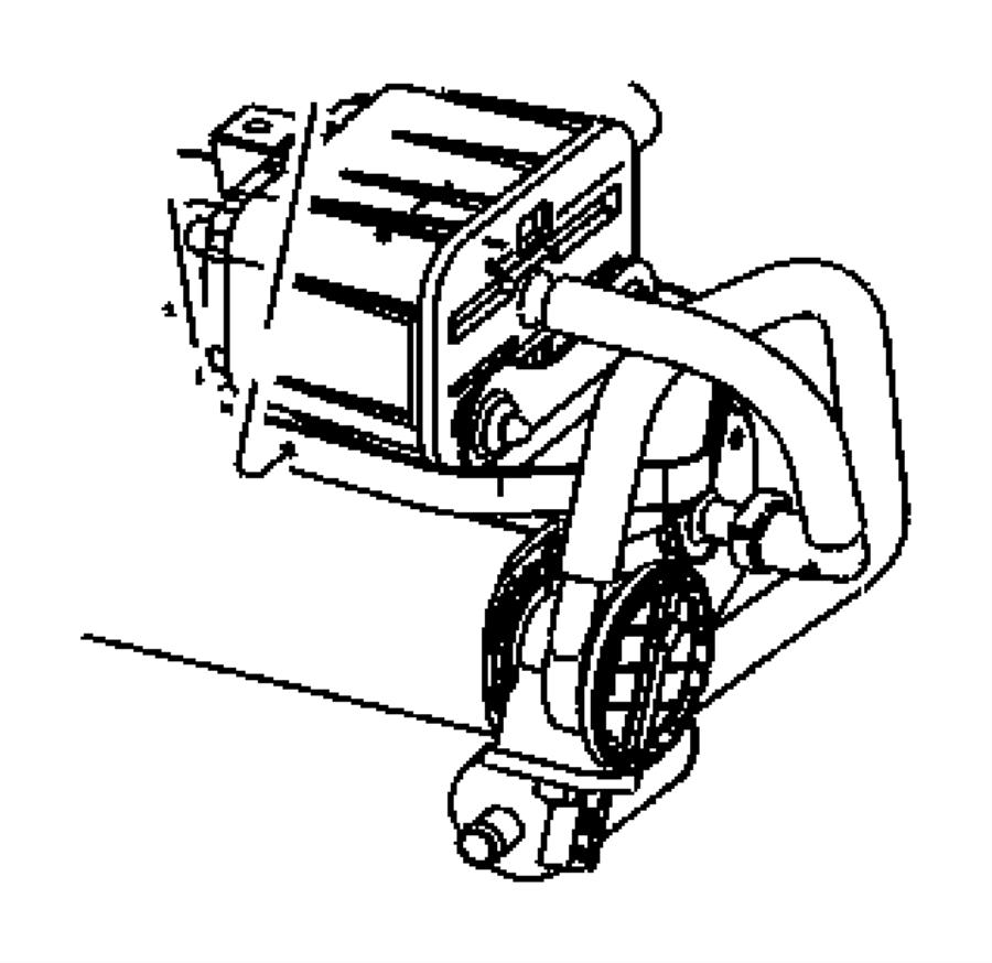 2008 Dodge Ram 1500 Hose. Filter to canister. Leak