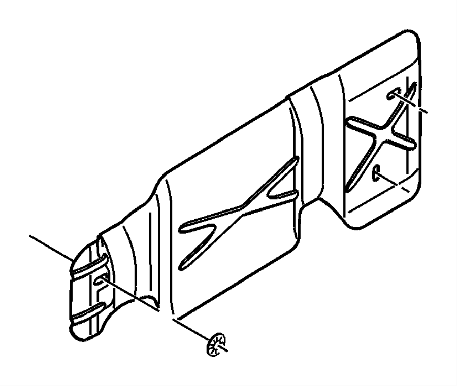 Dodge Ram 3500 Nut. Spring. Mounting. Heat shield, heat