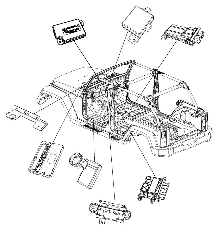 2008 Jeep Wrangler Bracket. Control unit. Transmission