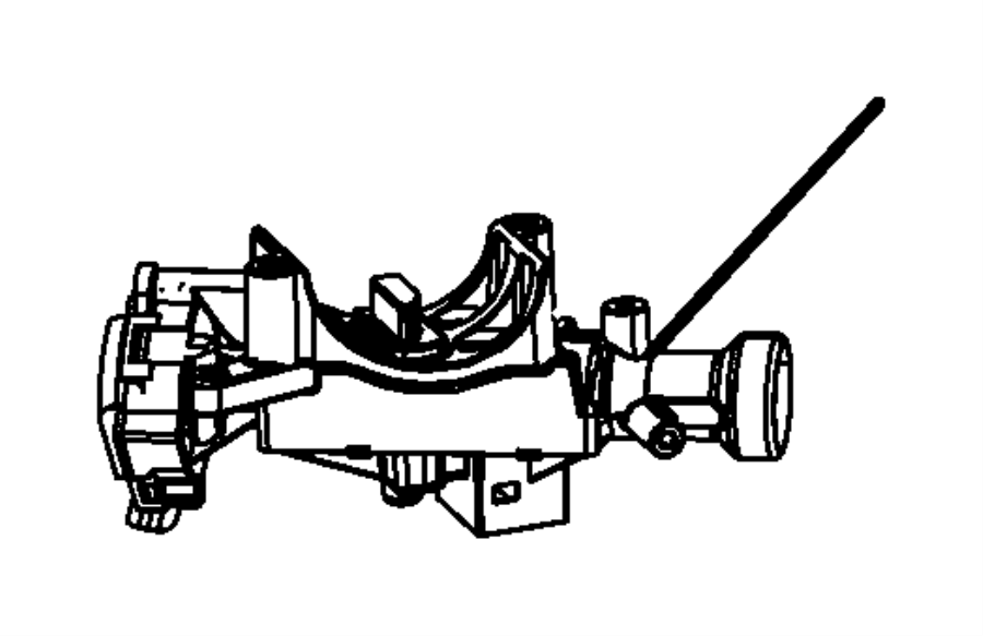Jeep Wrangler Housing. Steering column lock. Export