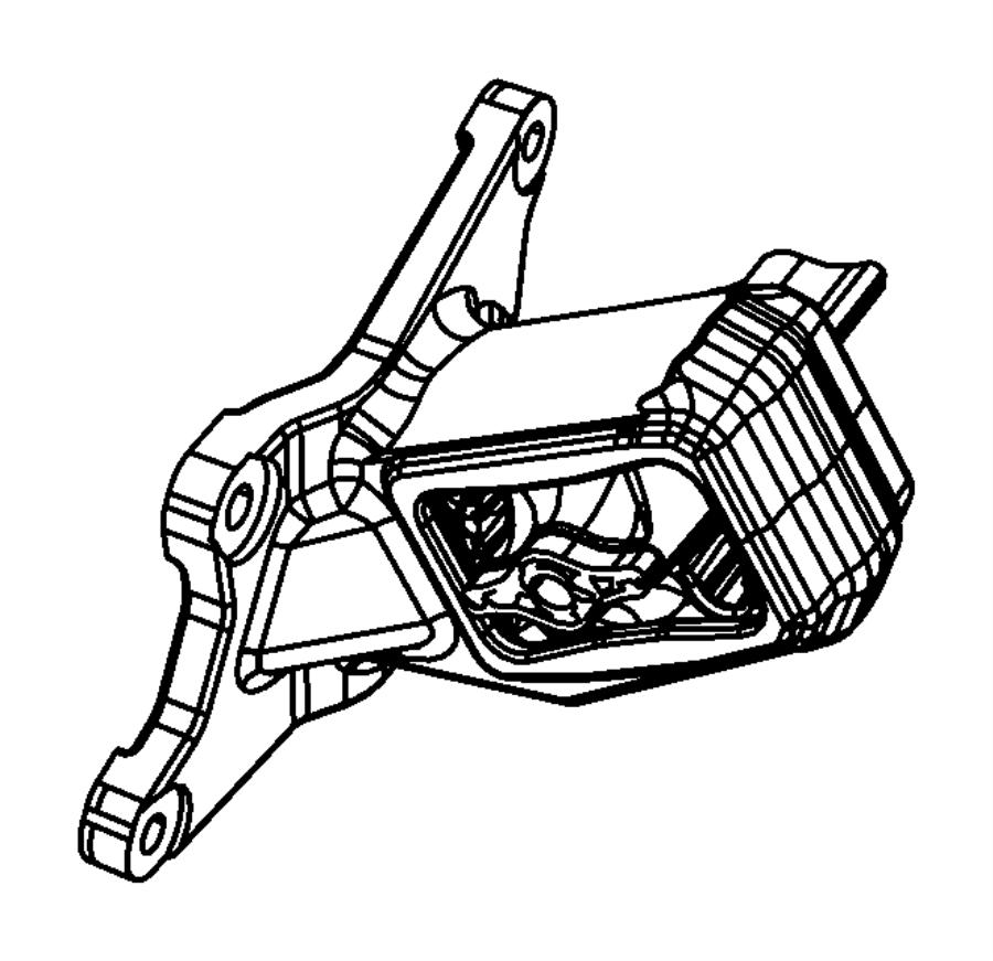 2011 Jeep Wrangler Isolator. Engine mount. Right, right
