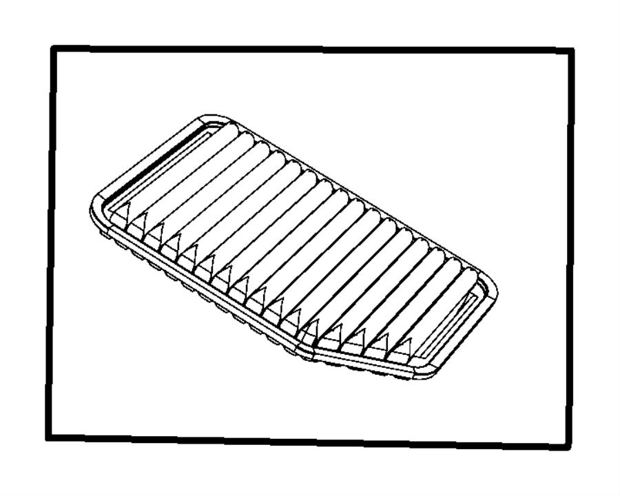 2007 Jeep Wrangler Filter. Air. [egt]. Cleaner