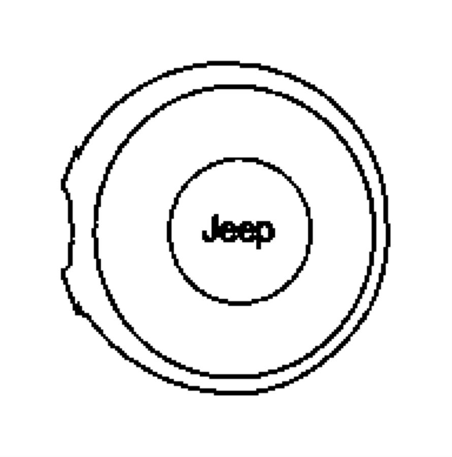 2008 Jeep Wrangler Air bag. Driver. [dd], [dd][advanced
