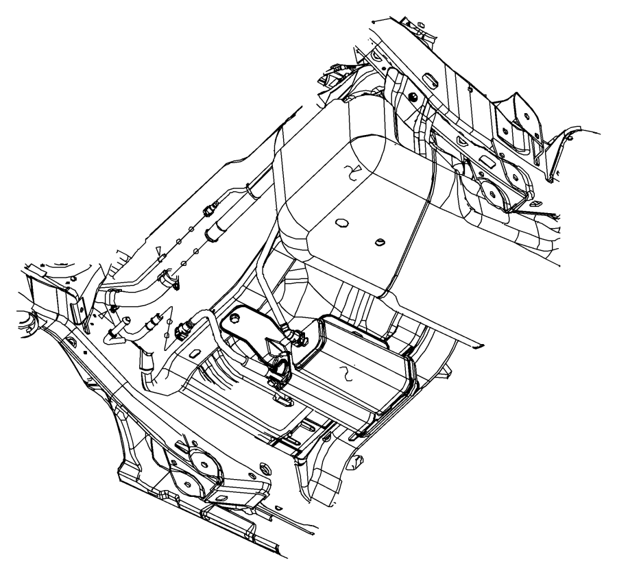 Jeep Wrangler Bracket. Vapor canister. Export. Tank