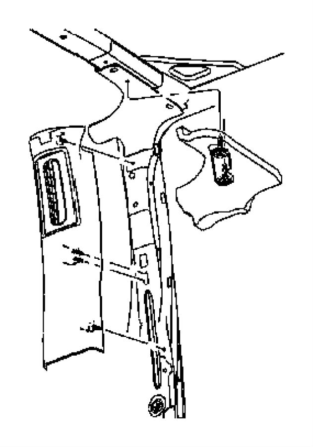 2008 Jeep Wrangler Molding. B pillar. Left. Trim: [all