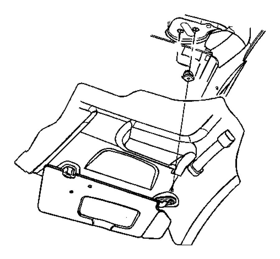 Chrysler Town & Country Screw. Pan head. 19-16x1.300