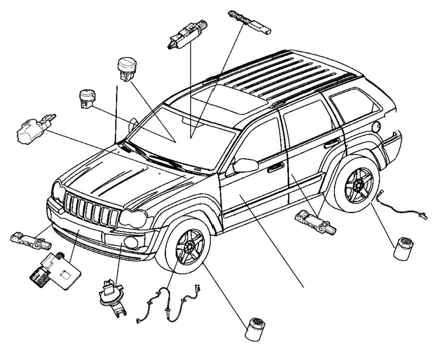 2005 Jeep Grand Cherokee Sensor kit. Strain gauge. Trim
