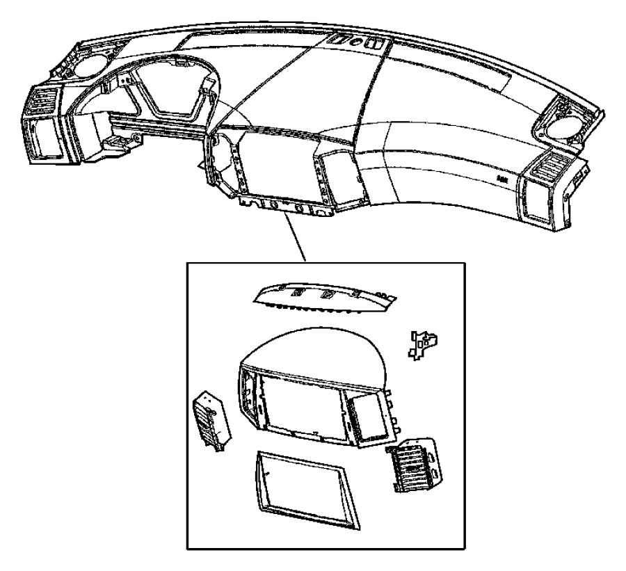 Jeep Grand Cherokee Bezel. Instrument panel. Upper. Trim