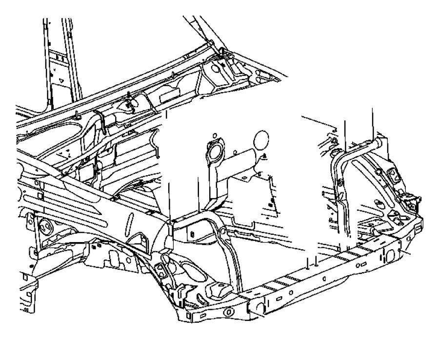 2006 Jeep Liberty Reinforcement. Hood latch. [m], m series