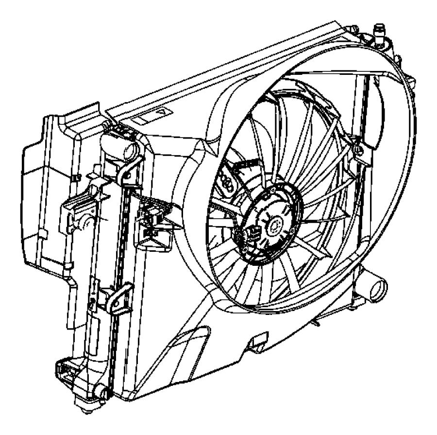 Jeep Commander Radiator. Engine cooling. [hydraulic engine