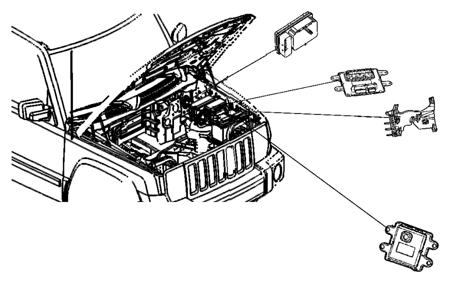 2006 Jeep Grand Cherokee Bracket. Power distribution