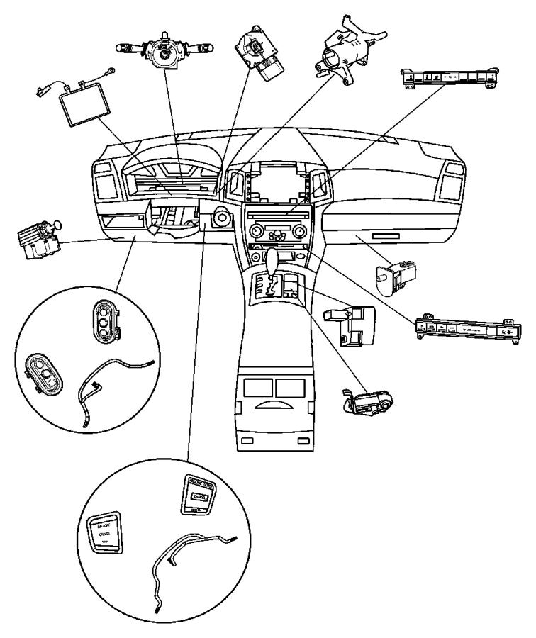2007 Jeep Commander Switch. 5 gang. Bnr, bnb, jpm