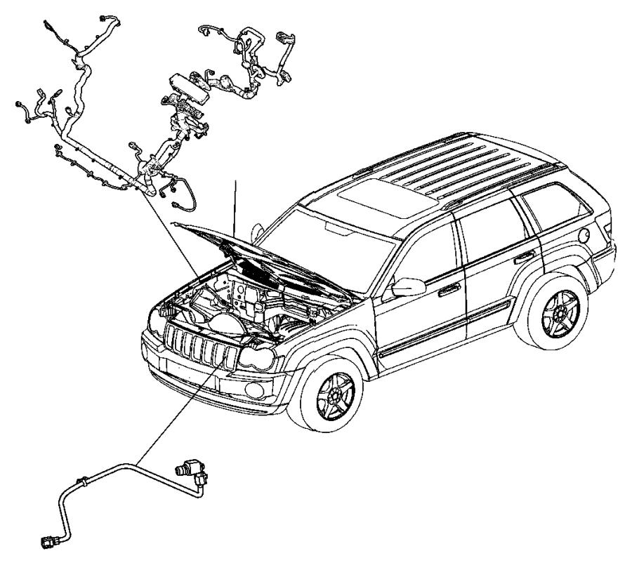 2006 Jeep Commander Harness, resistor, wiring. Jumper