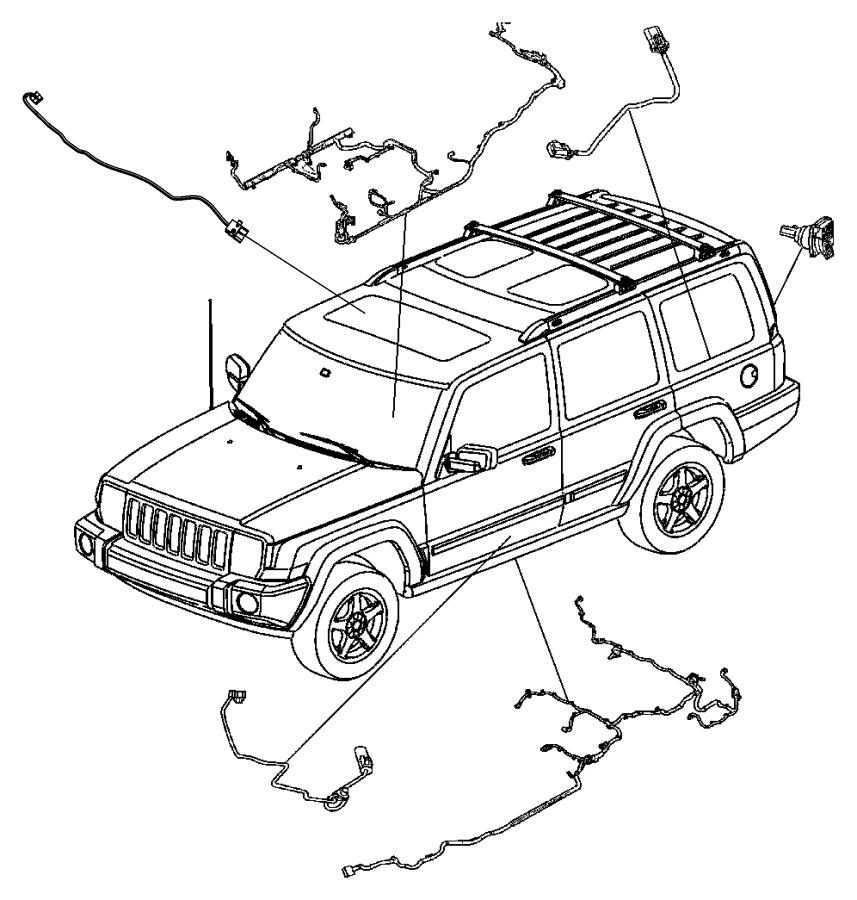 2007 Jeep Grand Cherokee Wiring. Fuel module. Tank, skid