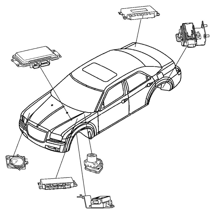 2011 Dodge Ram 1500 Module. Parking assist. Rear, system