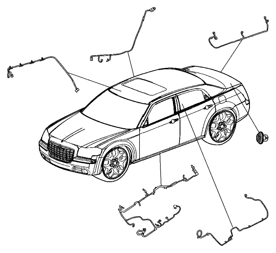 Dodge Charger Wiring. Rear fascia. Exhaustparksense, mff