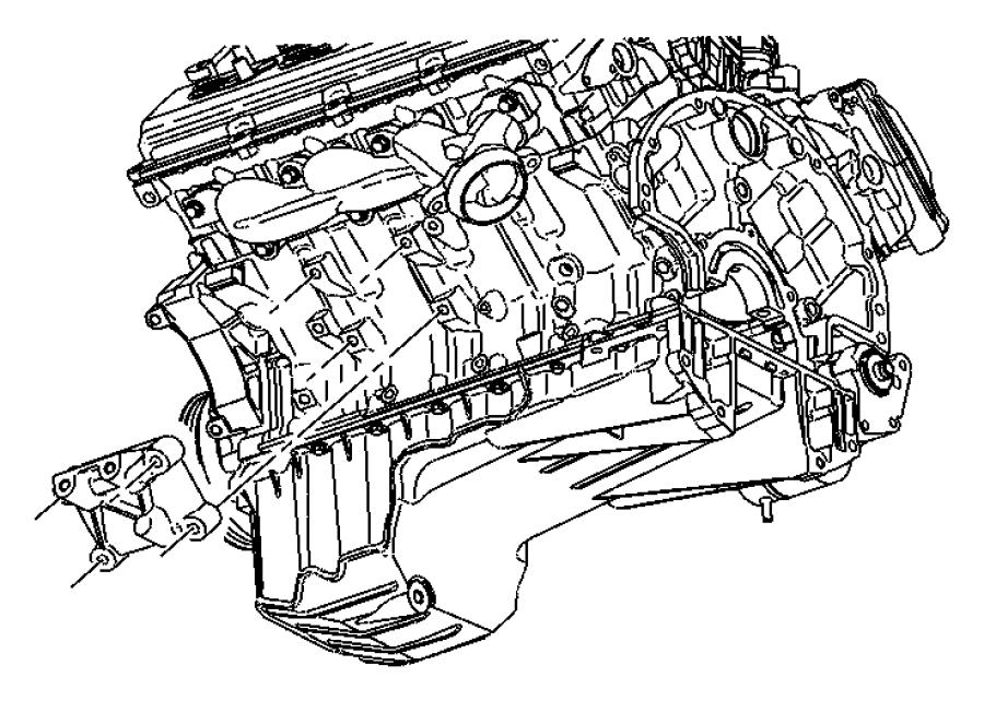 2008 Chrysler 300 Bracket. Engine mount. Right, right side