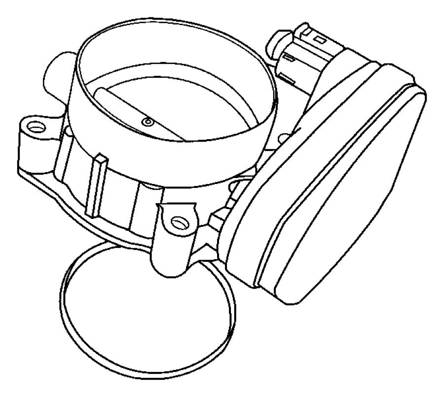 2007 Dodge Magnum Throttle body. Manifold, intake, esf