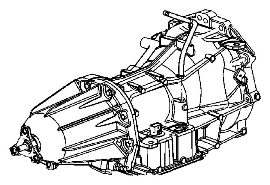 Chrysler 300 Trans. With torque converter. Transmission
