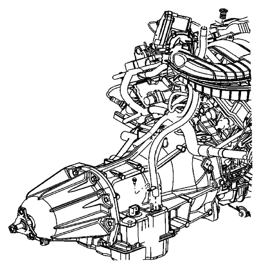 2006 Dodge Magnum Tube. Transmission oil filler. After [08