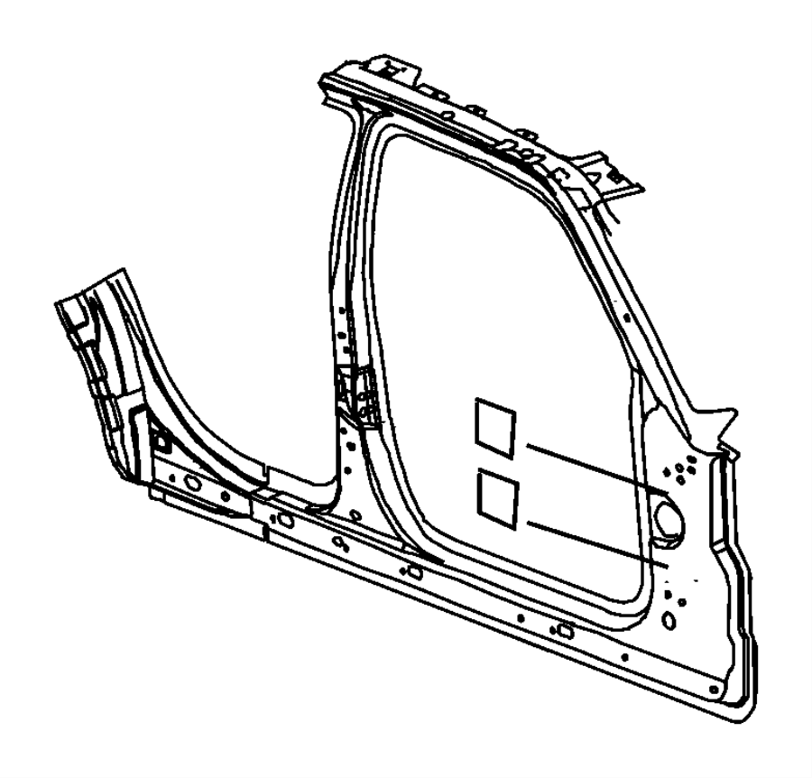Dodge Magnum Panel. Body side aperture front. Right. Mopar