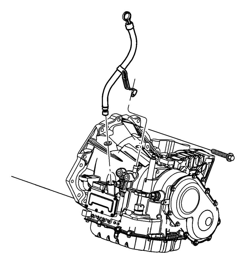 2006 Dodge Grand Caravan Tube. Filler, transmission oil