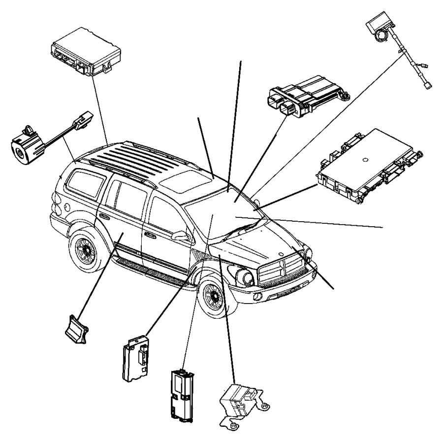 2007 Chrysler Aspen Receiver. Control module. [[keyless